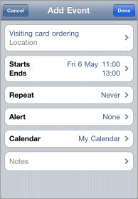 Adding Event from Mobile to Intranet